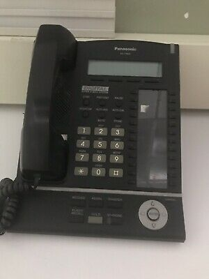 Panasonic KX-T7633 Digital Phone Telephone w/Handset Black