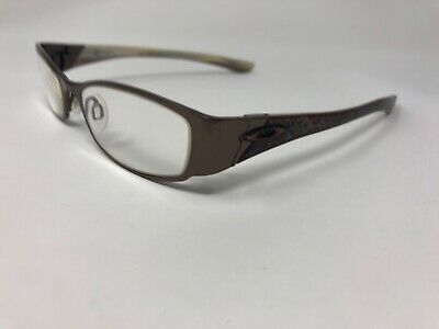 dbbc8753aa4f OAKLEY COTO 4.0 Eyeglasses Frame Womens Titanium 51-18-130 Dark Brown/White
