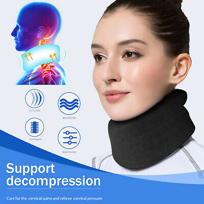 Neck Cervical Traction Device Therapy Belt Support Collar Foam Brace Pain Relief