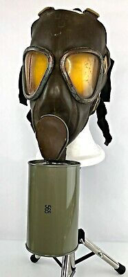 American 1941 MIA2 Chin-Mount Airborne Training Gas Mask + Bag - VTG WWII Issued