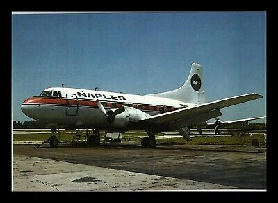 Dr Jim Stamps Naples Airlines Airplane Transportation Continental Size Postcard