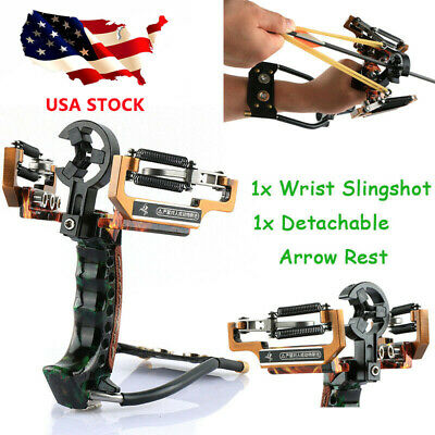 New Slingshot High Velocity Wrist Brace Hunting Fishing Catapult with Arrow Rest