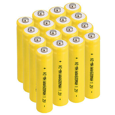 Lot 3A 1.2V Ni-MH 600mAh AAA Rechargeable Battery For Solar Device Lights