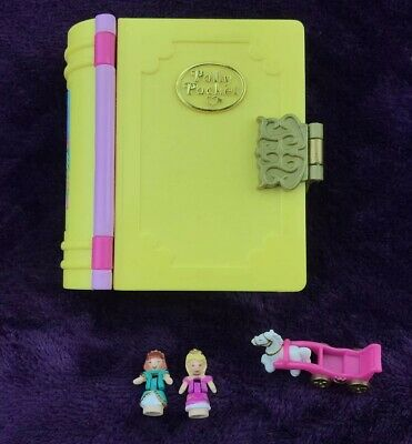Vintage Polly Pocket 1995 Bluebird PRINCESS PALACE Yellow Book ~ 100% Complete