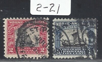 US Stamps, Norse-American Series, MH, set of 2, 620 to 621