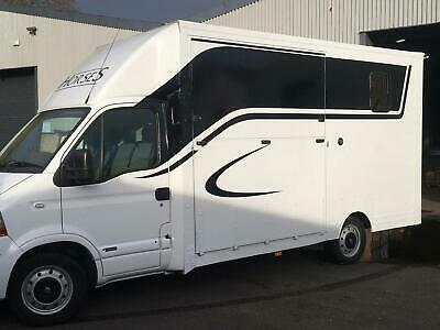 RENAULT MASTER dCi 120 CCML MWB 35 Horse box Brand New Conversion White Manual D