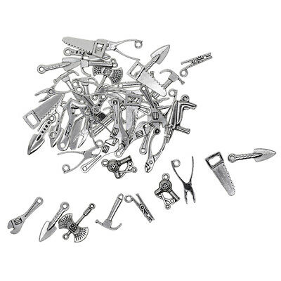 PJ182 //20pc Tibetan Silver Bead Charms Wrench Accessories Jewelry Findings