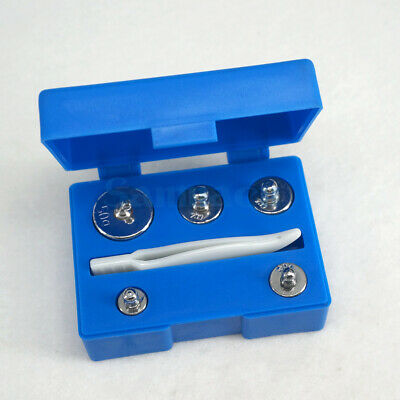 Box of Set 5g 10g 20g 50g Chrome Plating Steel M2 100g Calibration Weights