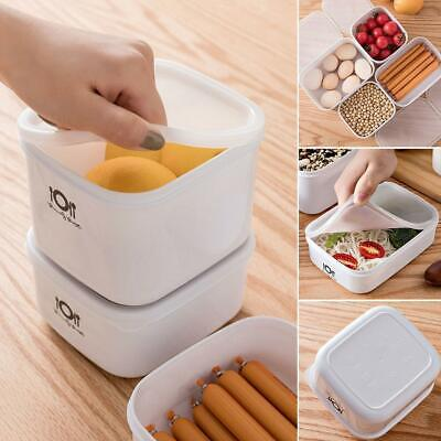 Home Kitchen Durable Plastic With Lid Food Storage Container EA9