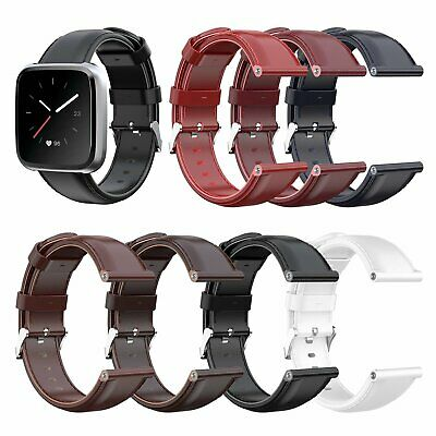23MM Wristwatch Band Leather Watch Strap for Fitbit Versa Lite/Versa 7 Colors