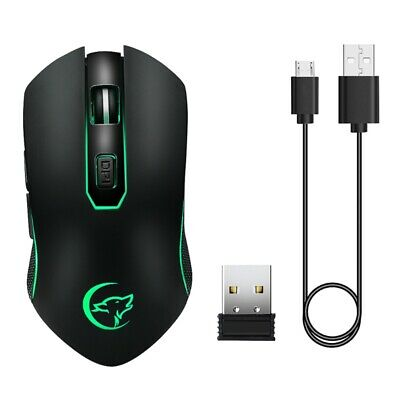 2.4Hz Wireless Gaming Mouse Rechargeable 2400DPI Optical Mice for PC Laptop M1K8