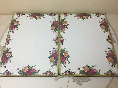 Royal Albert Old Country Roses 2 x Large Place Mats Good Used Condition