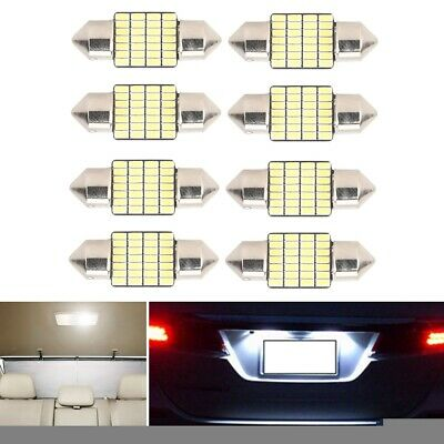 8* Festoon-3014 31mm 28SMD LED Dome Lights License Plate Roof Map Lamp Bulbs DY
