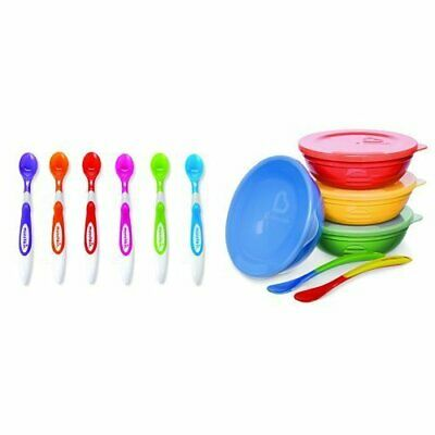 Munchkin Love a Bowls, 10 Piece Bowl and Spoon Set with Soft Tip Infant Spoons,