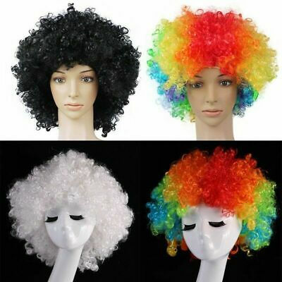 Funny Clown Curly Afro Circus Fancy Hair Wigs Cosplay-Disco-Costume Sale