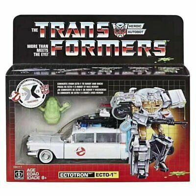 Hasbro Transformer Ghost Busters SDCC Fire Truck Mash-Up Ecto-1 Figure TSK CA
