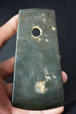 Ancient Chinese Old Jade Carved Axe Weapon Hongshan Culture A2