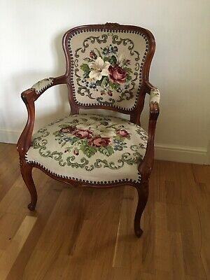 Embroidered French Boudoir Chair