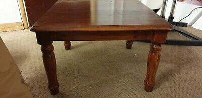 Mahogany Wooden Coffee Table Used Side Table Large