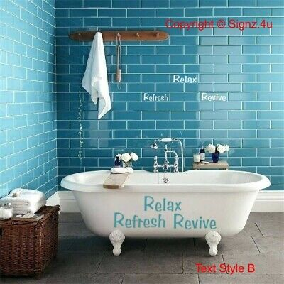 Bathroom and Tile Decal Stickers kit - Choices - Bathtub Tile Renovate DIY Chic