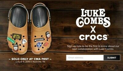 LUKE COMBS - 2019 CMA Fest exclusive CROCS - Mens size 10 - SOLD OUT with Tote