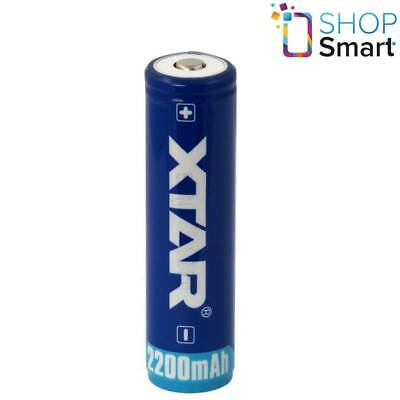 XTAR 18650 PROTECTED BATTERY RECHARGEABLE 3.7V LI-ION LITHIUM 2200 mAh NEW