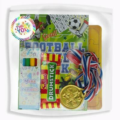 Pre Filled Football Party Bag Ideas, Filled Childrens Party Bags, Kids Party Bag