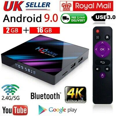 2019 H96 MAX LED TV Box RK3318 Android 9.0 2G+16G Quad Core 4K Smart BT 4.0 Wifi