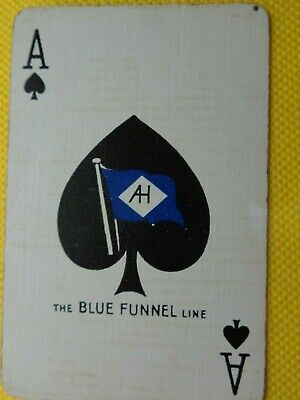 Old Vintage  Single Ace Of Spades  Card,  Swap Playing Card
