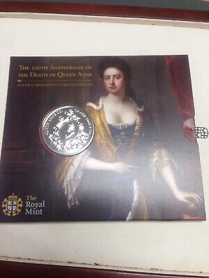 2014 Royal Mint 300th Death of Queen Anne £5 Five Pounds BU coin