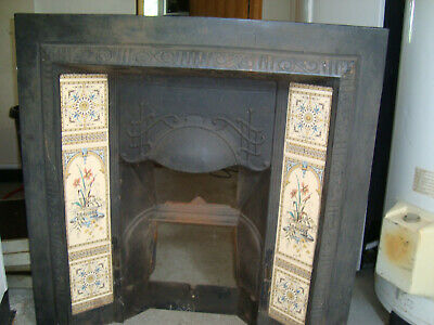 Victorian Reproduction Cast Iron Tiled Fireplace