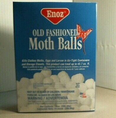 Enoz 31116 Old Fashion Moth Balls, 14 oz. Box, FREE SHIPPING
