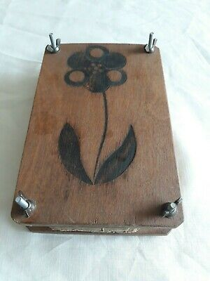 Old Vintage Wooden Flower Press - very nice working condition 16cms x 25cms