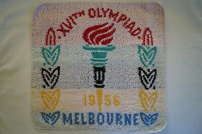 Olympic Games Collectable 1956 Melbourne Original XVIth Olympiad Face Washer