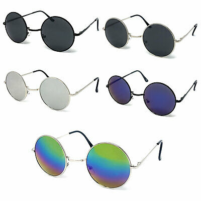 KIDS Round Lens Sunglasses Boys Girls John Lennon Fashion Circle Ozzy Hippie UV