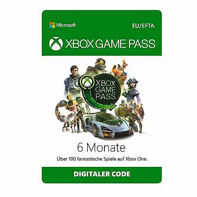 Xbox Game Pass 6 Monate Mitgliedschaft Code - Xbox Live Download Key
