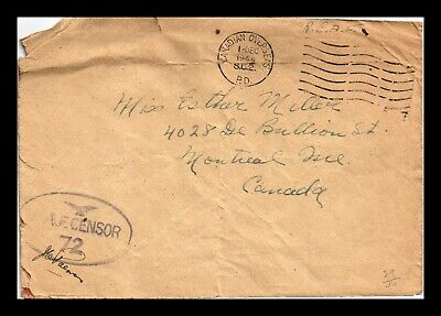 Dr Jim Stamps Wwii Royal Canadian Air Forces Passed Censor European Size Cover