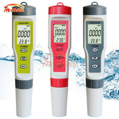 PH/EC/TDS/TEMP 4 in 1 Test Digital Water Tester Water Quality Monitor Tester