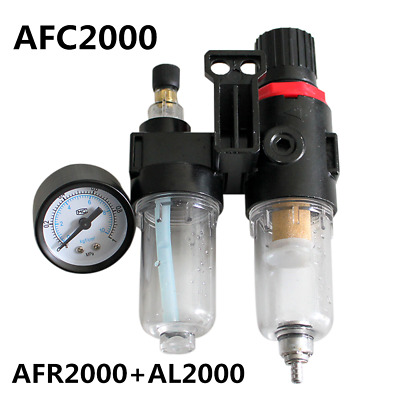 "AFR2000+AL2000 G1/4"" Air Compressor AFC2000 oil Water Separator Regulator Filter"