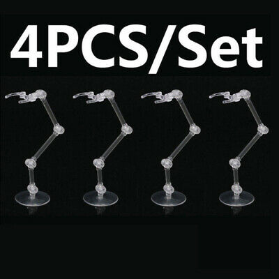 4pcs Action Figure Base Stand Holders Fit For Bandai HG RG SD Gundam Model