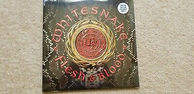 WHITESNAKE Flesh And Blood - RED Vinyl DOUBLE LP - Mint and Sealed! 1 of 250!