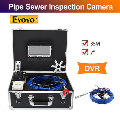 Eyoyo 7 Inch 35m DVR Pipe Sewer Inspection Video Camera IR Remote Industrial LED