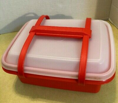 Vintage Tupperware Plastic Lunchbox / Storage / Container with Components
