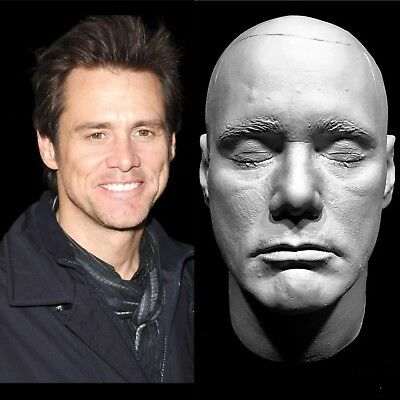 "Jim Carrey Life Mask ""The Mask""Ace Ventura"" Batman""The Riddler""Truman Show""RARE!"