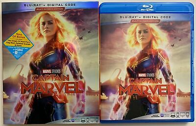 Captain Marvel Blu Ray + Slipcover Sleeve Multi Screen Edition Free Shipping