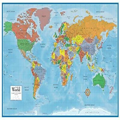 World Map Classic Huge Large Laminated Wall Map 24X36 Poster Home Office School