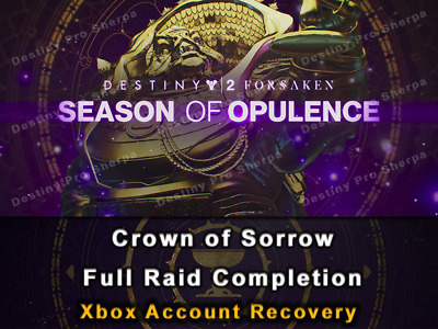 Crown of Sorrow Full Raid Completion Up to 750 Drop SALE Destiny 2 Xbox Recovery