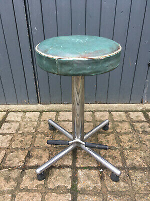 Harrods department store industrial furniture art deco covered adjustable stool