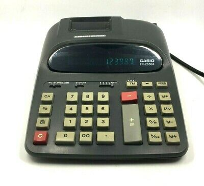 Vintage CASIO FR-2650A Office Table Printing Calculator