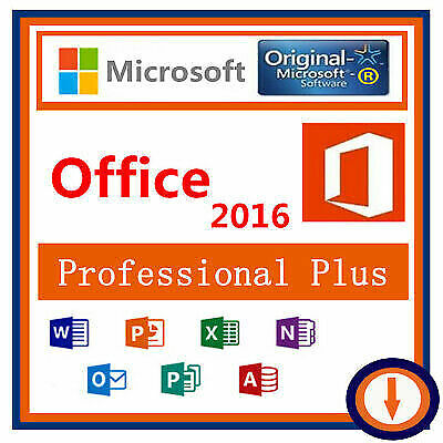 Microsoft Office 2016 Professional Plus For Windows 1PC Key Instant Delivery